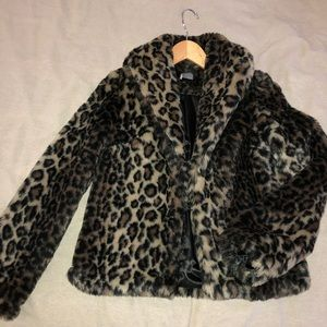 Leopard print xs Sparkle and Fade coat